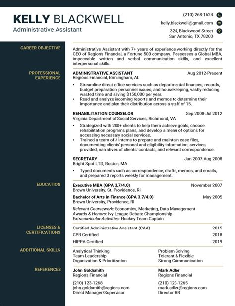 Resume Samples Our collection of Free Resume Examples