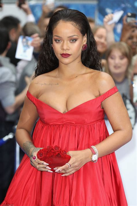 Rihanna in Pink Gown at Valerian Premiere Rihanna Red