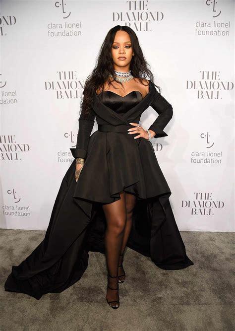 Rihanna s 3rd Annual Diamond Ball Red Carpet InStyle