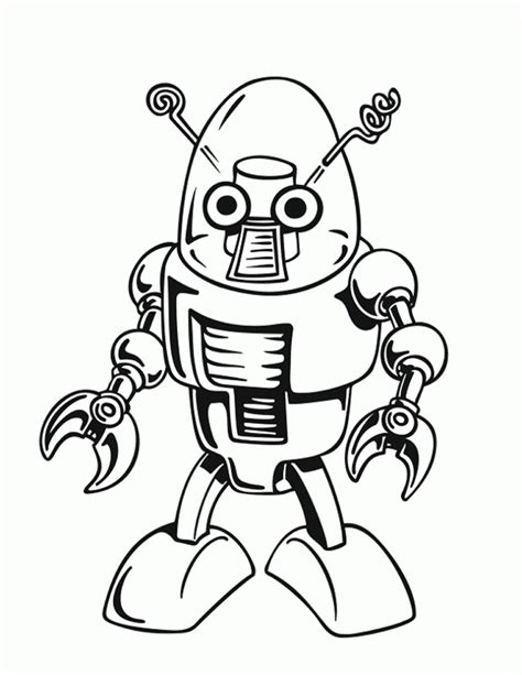 Robots coloring pages Free printable coloring sheets for
