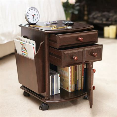 Rolling Magazine Storage Table from Collections Etc