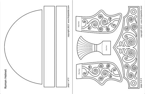 Roman Imperial Helmet Printable Templates Coloring