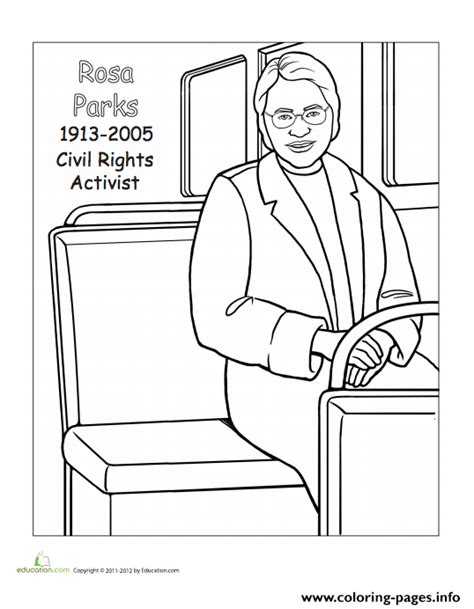 Rosa Parks Day coloring pages free coloring Pages