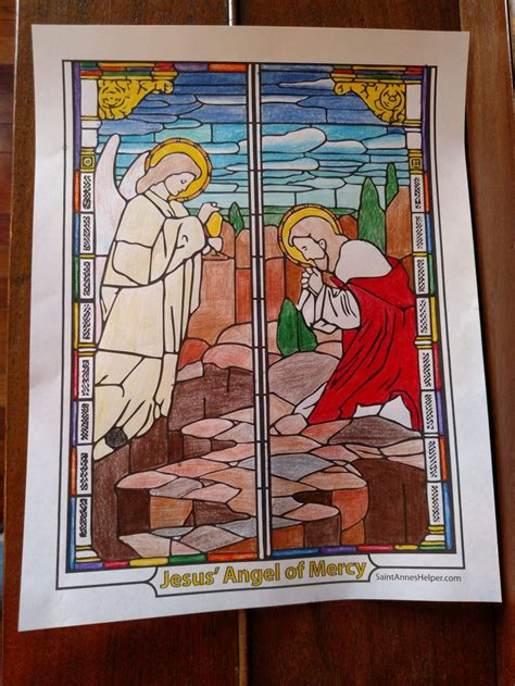 Rosary Coloring Pages Saint Anne s Helper