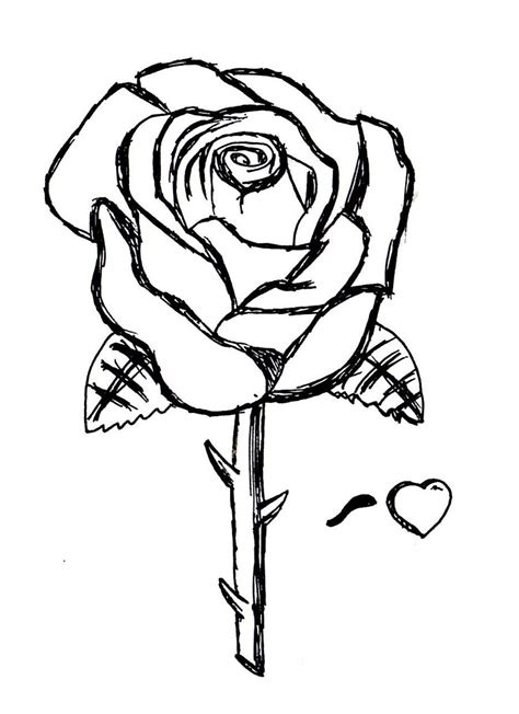 Rose Coloring Page Free Rose Online Coloring