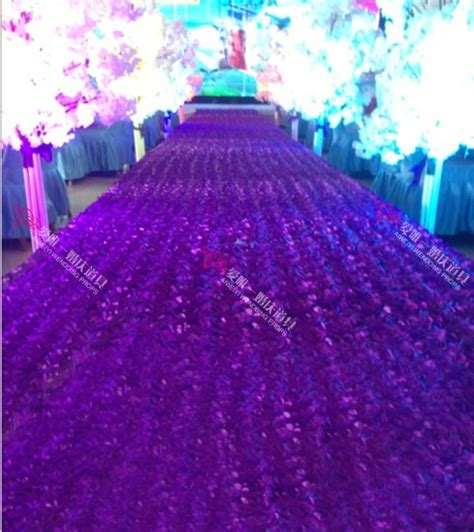 Rose Silver Wedding Aisle VIP Event Carpet Runner at