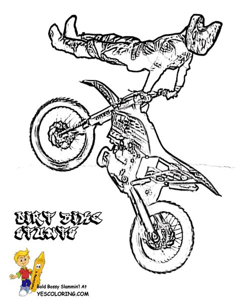 Rough Rider Dirt Bike Coloring Pages Dirt Bike Free