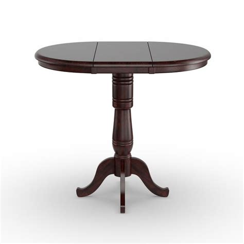 Round 36 inch Dining Room Table with Two 6 inch Extensions