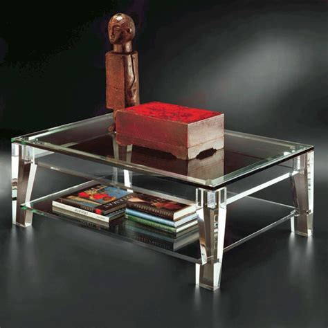 Round Acrylic Coffee Table Design Ideas