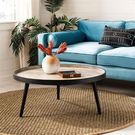Round Leather Coffee Tables Walmart