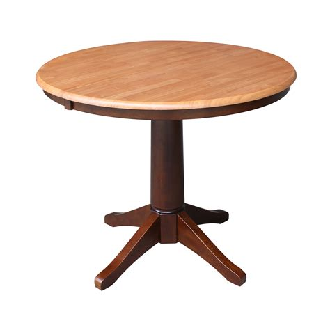 Round Pedestal 36 Dining Table with 12 Leaf