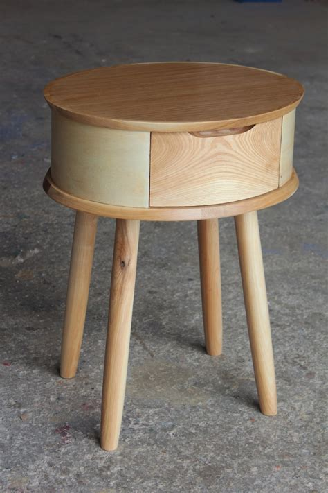 Round bedside table Etsy
