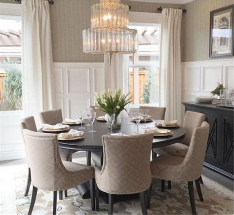 Round dining table seats 8 Dining Room Furniture Bizrate