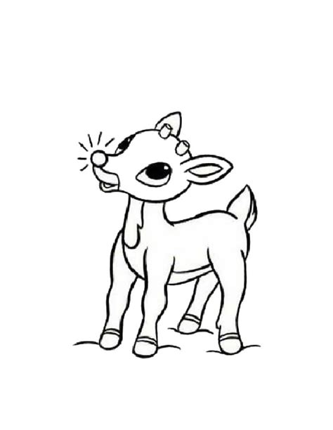 Rudolph the Red Nosed Reindeer coloring pages on Coloring