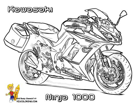Rugged Motorcycle Coloring Book Pages Triumph Free