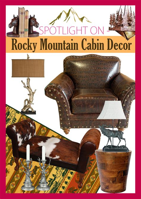 Rustic Decor and Rustic Furniture at Rocky Mountain Cabin