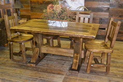 Rustic Dining Tables Dumond s Custom Furniture