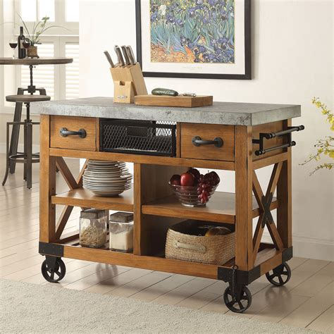 Rustic Kitchen Islands Carts Kitchen Dining