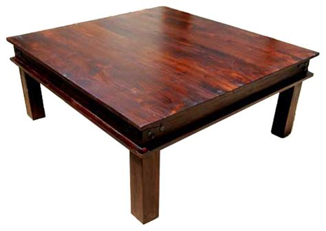 Rustic Square Coffee Table Houzz