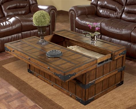 Rustic Square Coffee Table with Storage Wood Pinterest