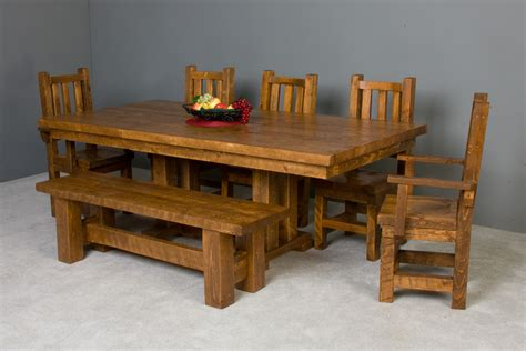 Rustic Table and Dining Room Decor Viking Log Furniture