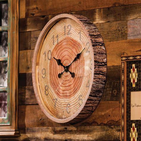 Rustic Wall Clocks Cabin Place