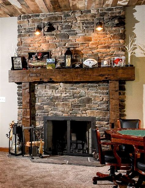 Rustic Wood Accents Rustic Reclaimed Fireplace Mantels