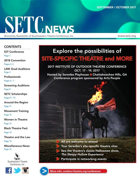 SETC Convention News 2017 by Southeastern Theatre
