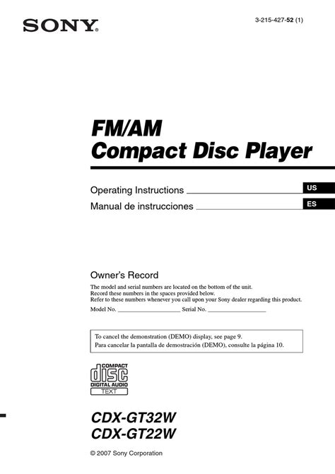 sony cdx gt260mp wiring diagram images radio wiring diagrams sony cdx gt22w operating instructions manual pdf