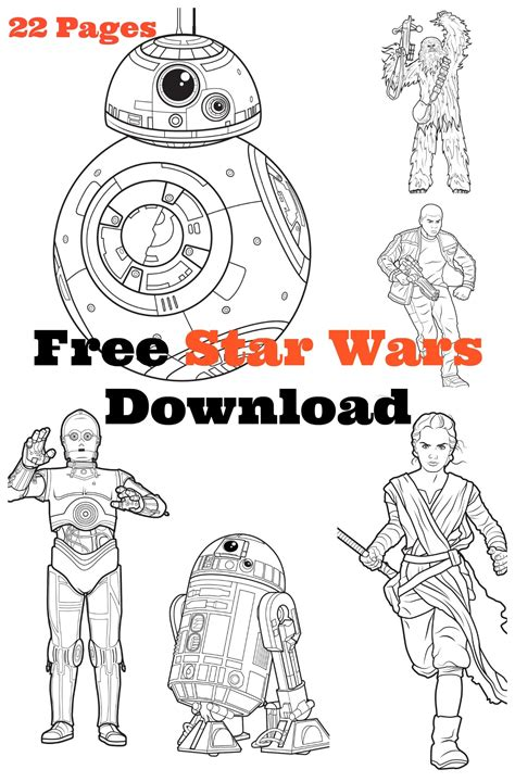 STAR WARS COLORING Pages Free Download Printable
