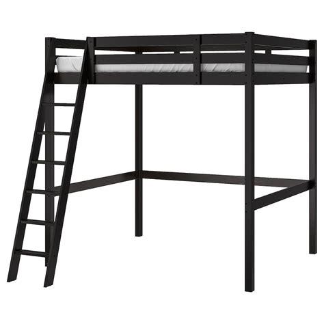 STOR Loft bed frame black IKEA