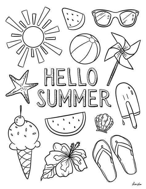 SUMMER COLORING Pages Free Download Printable
