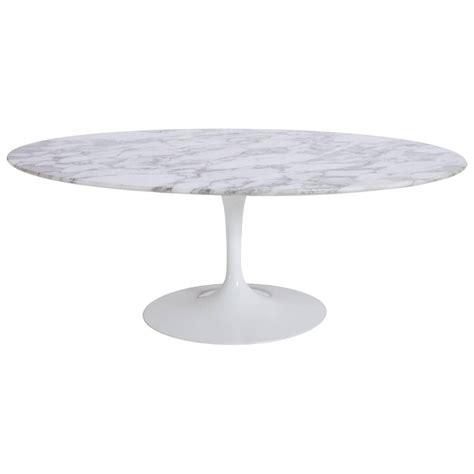 Saarinen Tulip Marble Oval Coffee Table