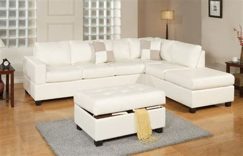 Sacramento Cream Leather Sectional Sofa with GoWFB ca