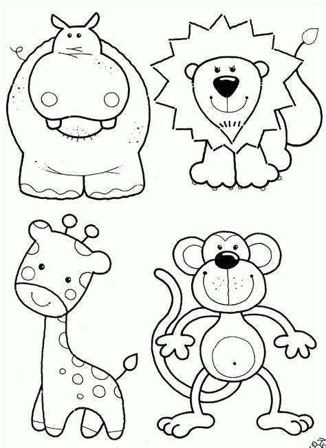 Safari Animals Coloring Pages GetColoringPages