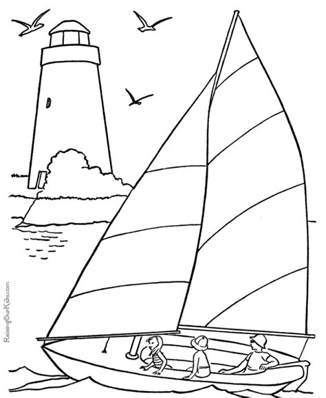 Sail boat coloring book pages 001 Raising Our Kids