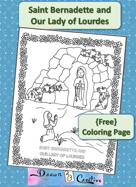 Saint Bernadette and Our Lady of Lourdes Drawn2BCreative