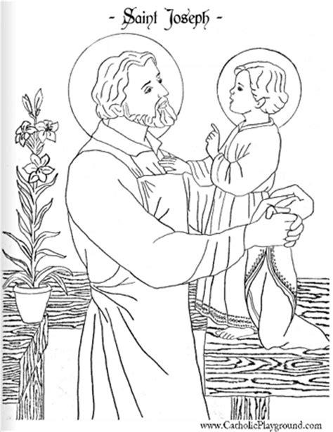 Saint Joseph coloring page March 19th Catholic Playground