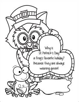 Saint Patrick s Day Riddles Coloring Pages