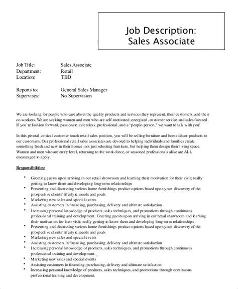 Sales Associate Job Description Requirements and Career
