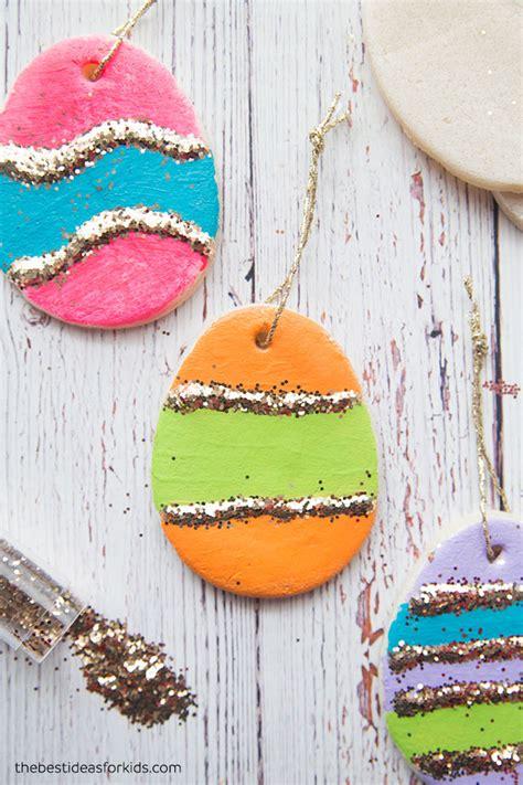 Salt Dough Easter Egg Ornaments Design Mom