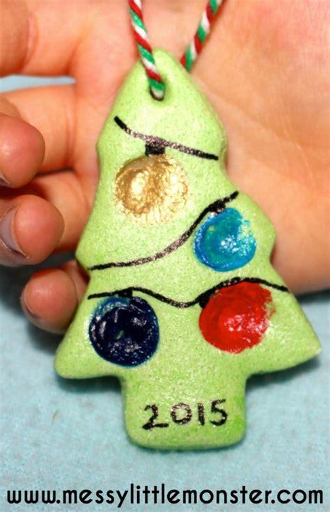 Salt Dough Handprint Christmas Tree Ornaments The