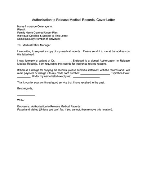 sample letter authorization to release medical records permission letter for medical treatment