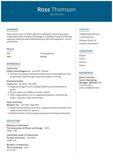 Sample Resumes and Resume Examples Job Hunt