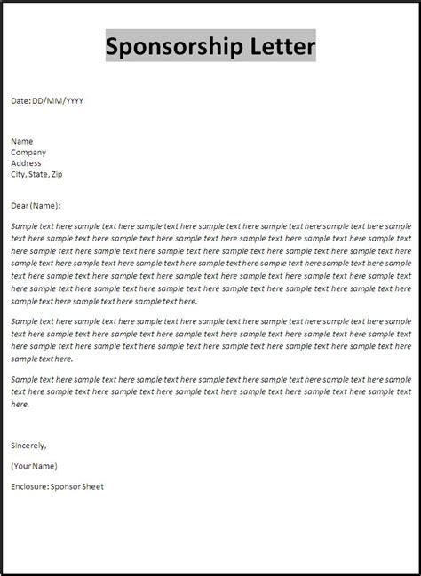 photo sponsor sample letter images