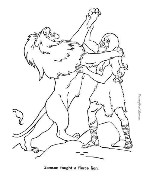 Samson Bible page to print and color 033