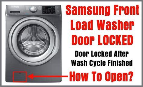 Samsung Front Loading Washing Machine Door Will Not