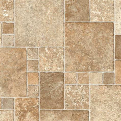 Sandstone Mosaic 12 ft Wide Vinyl Sheet The Home Depot