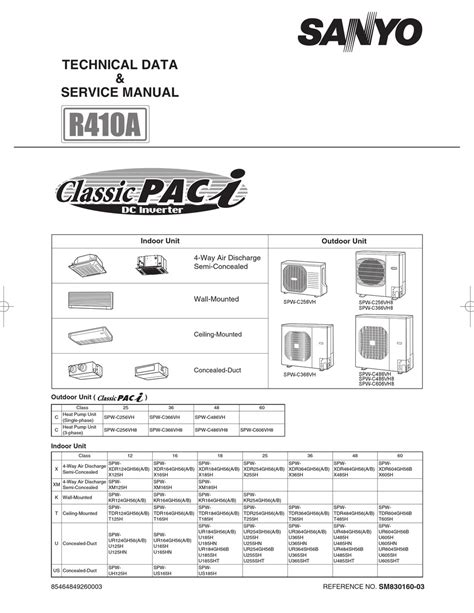 Sanyo SPW C256VH Technical Data Service Manual