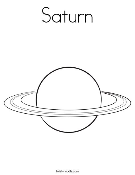 Saturn Coloring Page Twisty Noodle